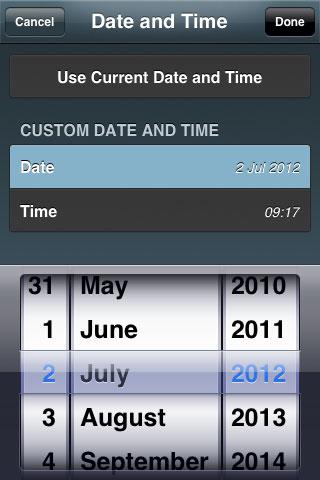 Select stargazer date