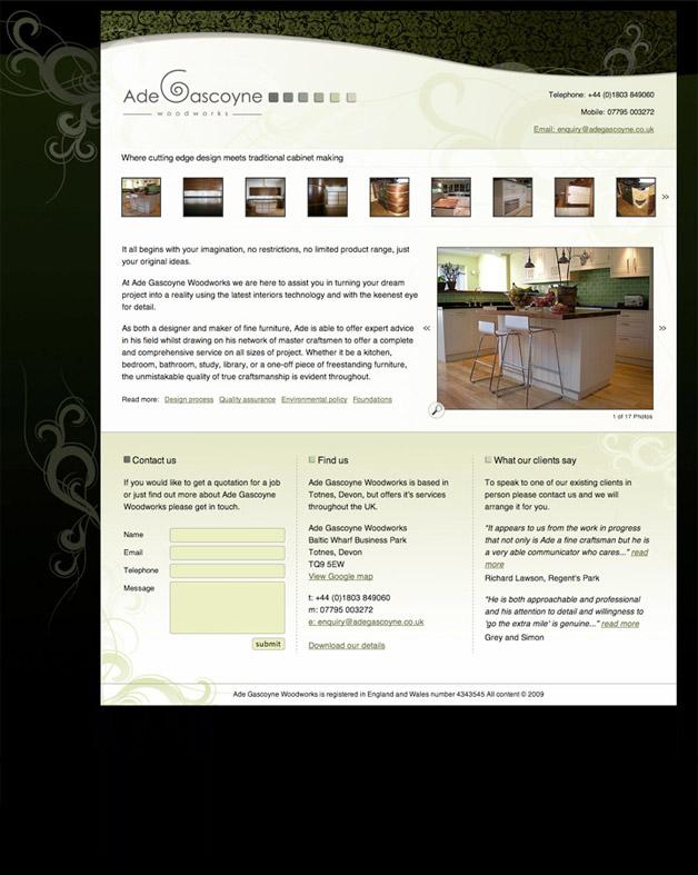 Ade Gascoyne Woodwork - Home
