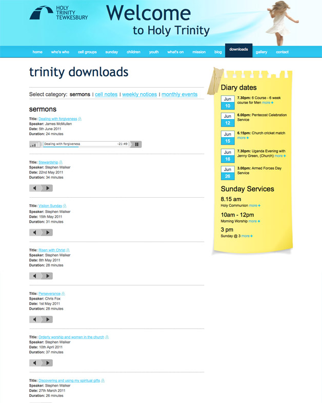 Holy Trinity Tewkesbury - Downloads