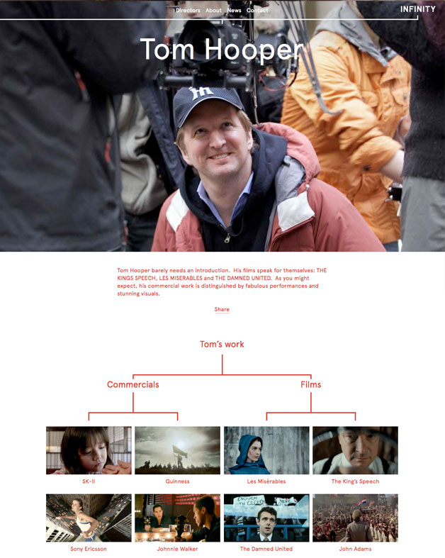 Infinity director page