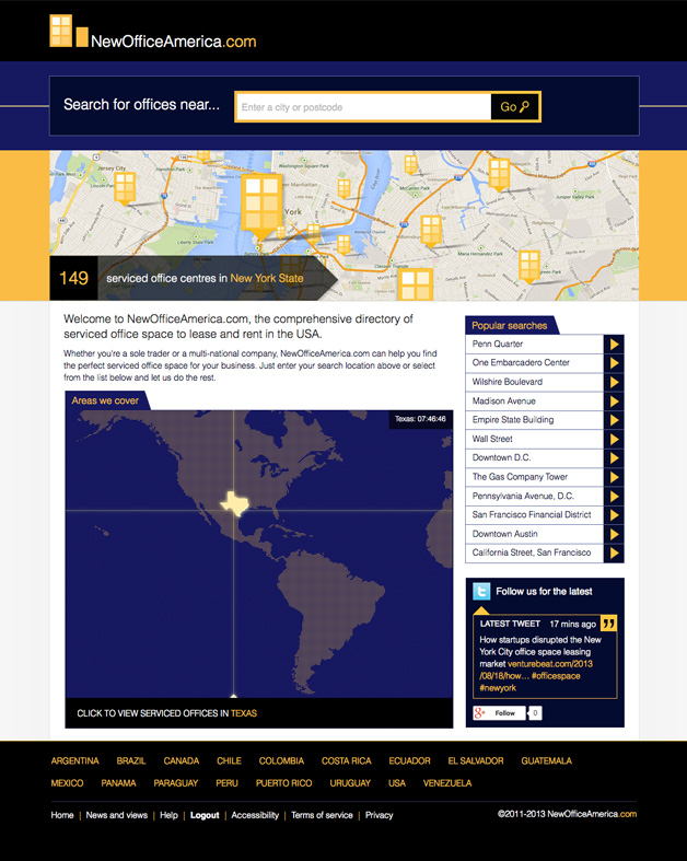 NewOfficeAmerica.com home page