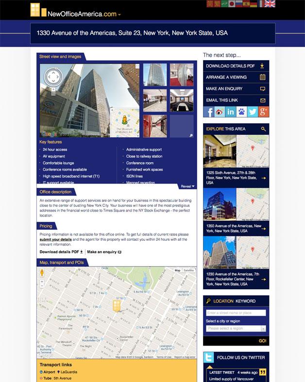 NewOfficeAmerica.com inner page
