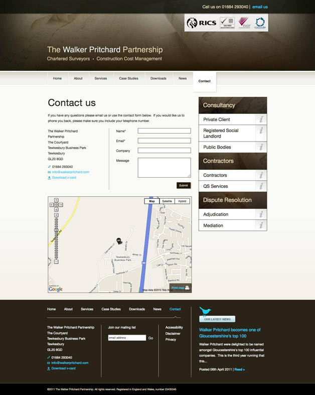 Walker Pritchard - Contact page
